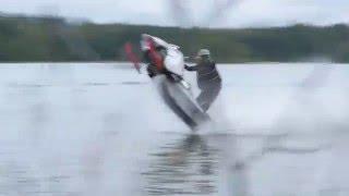 getlinkyoutube.com-Snowmobile Vs. Jetski watercross BIISONIMAFIA