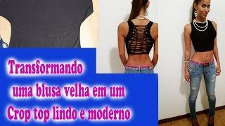 getlinkyoutube.com-DIY customizar blusa velha por janaina pauferro