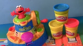Learn Colors with Play Doh Elmo Color Mixer Elmo Talks With Cookie Monster Sesame Street
