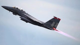getlinkyoutube.com-Fighter Jets Takeoff: F-22, F-35, F-15, F-16