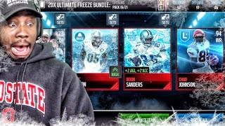 ULTIMATE FREEZE PACK OPENING & LEGEND CHAD JOHNSON! Madden Mobile 17 Gameplay Ep. 12