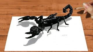 getlinkyoutube.com-3D Pencil Drawing: Emperor Scorpion How to Draw Animals - Speed Draw | Jasmina Susak