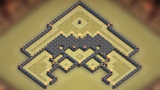 getlinkyoutube.com-Clash of clans - Town hall 9 (TH9) Best war base 2015 [Anti 2 stars] + Replay