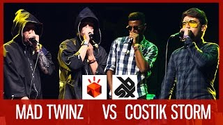 getlinkyoutube.com-MAD TWINZ vs COSTIK STORM  |  Grand Beatbox TAG TEAM Battle 2016  |  SEMI FINAL