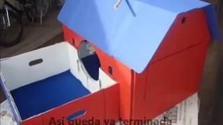 getlinkyoutube.com-Como hacer una práctica y facil casita para tu gato