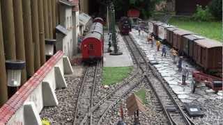 getlinkyoutube.com-Eisenbahnromantik auf unserer LGB Gartenbahn - Teil 3 - HSB Fahrtag