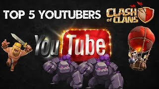 getlinkyoutube.com-[500 sub] TOP 5 Best Youtuber Clash of Clans