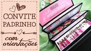 getlinkyoutube.com-Convite Padrinhos com Orientações - CAIXA RÍGIDA   Giselle Branco