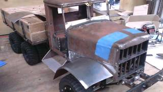 getlinkyoutube.com-Project: Fatbetty - Forum build thread slide show. Home made steel RC army truck.