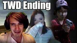 getlinkyoutube.com-2 YouTubers React To: The Walking Dead S1 Ending