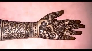 getlinkyoutube.com-Beautiful Mehndi Designs Bridal Mehndi tutorials-Bridal Henna Designs For Full Hands-2