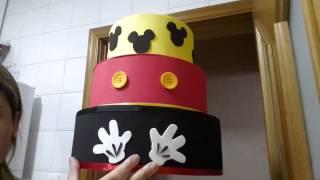 getlinkyoutube.com-preparativos Davi 2 anos - tema Mickey - Parte 5