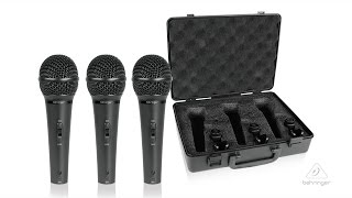 ULTRAVOICE XM1800S 3 Dynamic Cardioid Vocal and Instrument Microphones (Set of 3)