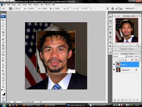 Tutorial How to Change Face in Adobe Photoshop Cs3 Extended By. Dj Janix
