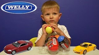 getlinkyoutube.com-Велли машинки яйца с сюрпризом. Surprise Eggs Cars Welly
