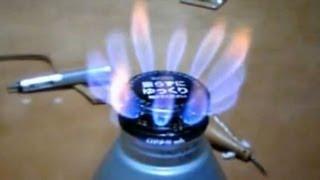 getlinkyoutube.com-Alcohol stove アルコールストーブ2-1 火力調節