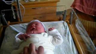 getlinkyoutube.com-1 day old baby laughing and her crazy daddy