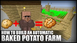 getlinkyoutube.com-How to Make an Automatic Baked Potato Farm in Minecraft