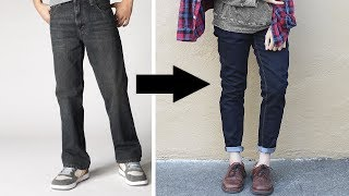 getlinkyoutube.com-Transformation: Loose to Fitted Jeans!