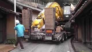 getlinkyoutube.com-日本に2台しかない16輪ステアリング装置付トレーラーを操る神業師