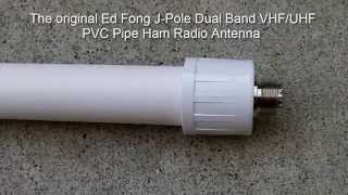 getlinkyoutube.com-The original Ed Fong Dual Band VHF/UHF 70cm/2m J-Pole PVC Pipe Antenna : Eye-On-Stuff