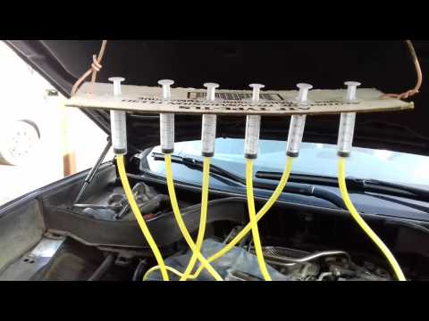 INFINITI FX30d Проверка форсунок на слив в обратку