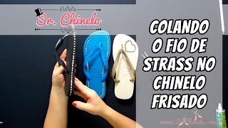 getlinkyoutube.com-Como colar o fio de strass no chinelo frisado