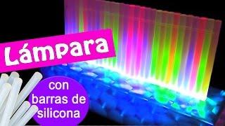 getlinkyoutube.com-Manualidades: LAMPARA de LEDS con barras de silicona! - Innova Manualidades