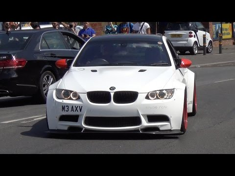 Liberty Walk Widebody BMW M3 Coupe - Burnout, Engine Sound and Details