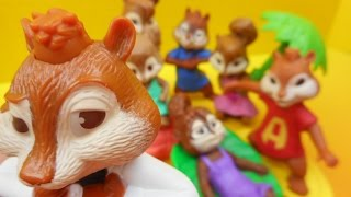 getlinkyoutube.com-2011 McDONALD'S ALVIN AND THE CHIPMUNKS 3 HAPPY MEAL SET OF 7 TOYS VIDEO REVIEW
