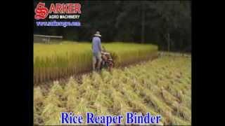 getlinkyoutube.com-Rice Reaper Binder Machine
