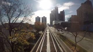 getlinkyoutube.com-Detroit People Mover - Once Around with GoPro Camera Hero3+
