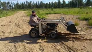 getlinkyoutube.com-Sears Loader Is Useless At the new House!!! (Sears Garden Tractor)
