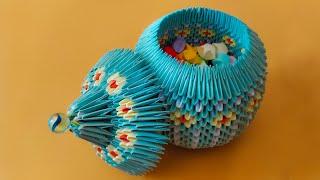 getlinkyoutube.com-3D Origami Jewellery Box Tutorial