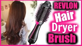 Revlon Hair Dryer Brush Tutorial + Review │ DOES THIS WORK? │ WEIRD HAIR TOOL DEMO