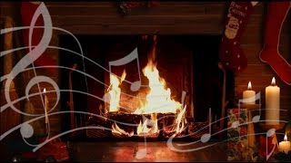 getlinkyoutube.com-Cozy Yule Log Fireplace with Crackling Christmas Music! (HD)