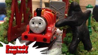 """getlinkyoutube.com-トーマス プラレール ガチャガチャ こわがりなきかんしゃ Tomy Plarail Thomas """"Scaredy Engines"""""""