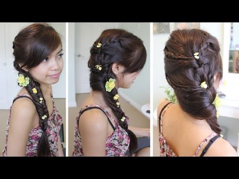 Fancy Fishtail Braid Hairstyle Hair Tutorial