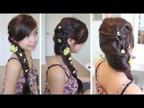 Fancy Fishtail Braid Hairstyle Hair Tutorial