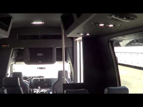 New Executive Shuttle Bus - 2013 Ford Ameritrans 24 Passenger with Rear Luggage - S52591