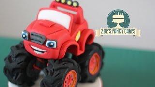 getlinkyoutube.com-Blaze Monster Machines cake topper