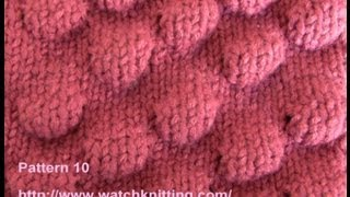 getlinkyoutube.com-(bobble Stitch) - Embossed Patterns - Free Knitting Patterns Tutorial - Watch Knitting - pattern 10