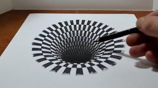 Iluzie optică anamorfozată - desen 3D