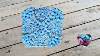 getlinkyoutube.com-Magnifique granny au crochet / Precioso granny tejido a crochet