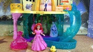 getlinkyoutube.com-ARIEL THE LITTLE MERMIAD Disney Princess The Little Mermaid Castle Playset Toys Video