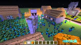 getlinkyoutube.com-Minecraft - 1,000 Zombies