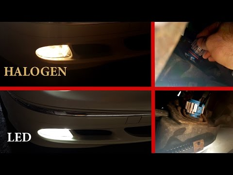 How to install LED bulbs H11 in fog lights Mercedes W211, W219/Installation LED H11 Mercedes W211