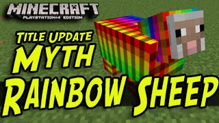 getlinkyoutube.com-Minecraft (PS3, PS4, Xbox, Wii U) - Rainbow Sheep - Title Update Myths
