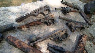 getlinkyoutube.com-Video # 400 - Machine gun parts found in the river!