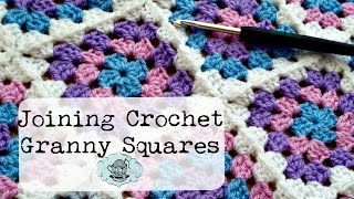 DIY Join-As-You-Go Method: Joining Crochet Granny Squares ¦ The Corner of Craft